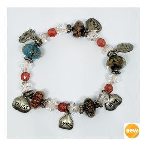 NEW ~ Faith Peace Purity Trust Love Hope Bracelet